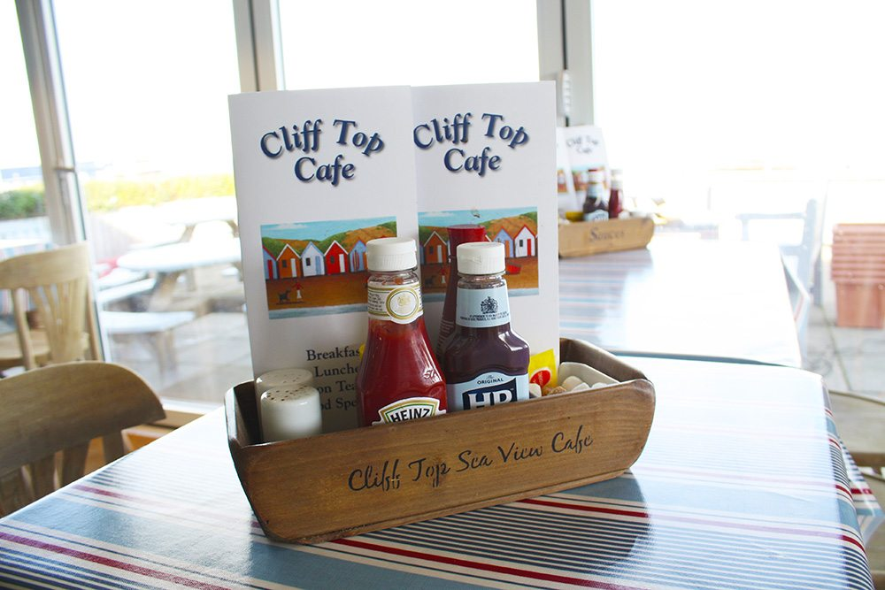 Cliff top cafe menus on table cliff top holidays norfolk for Table cafe menu